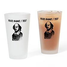 Custom Shakespeare Portrait Drinking Glass