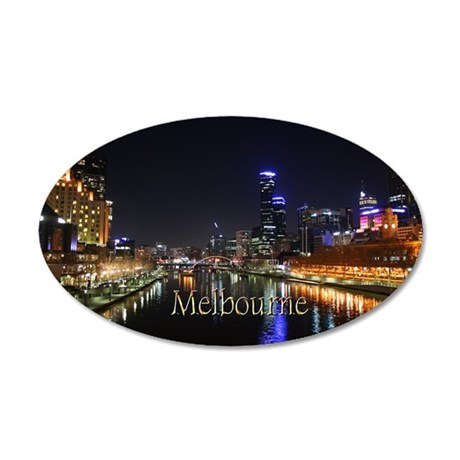 Melbourne City Light Yarra River Reflection Wall D