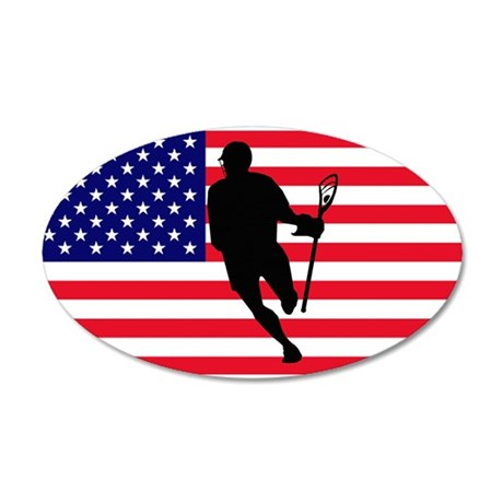 Lacrosse Flag IRock America Wall Decal