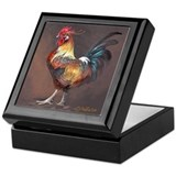 Keepsake Box- Rooster with horns