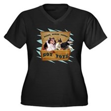 Boy Toyz Women's Plus Size V-Neck Dark T-Shirt