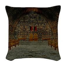 Medieval Tavern Woven Throw Pillow