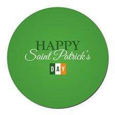 Happy St. Patricks Day Round Car Magnet