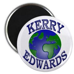 Kerry-Edwards Earth Magnet (10 pk)