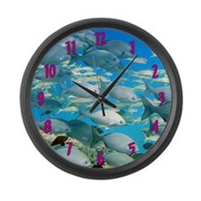 Gray Chub Fish Large Wall Clock