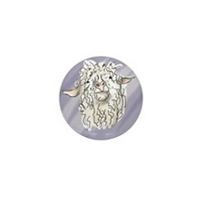 Unique Angora Mini Button (10 pack)