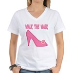 Walk the Walk Women's V-Neck T-Shirt