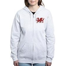 Welsh Red Dragon Zip Hoody