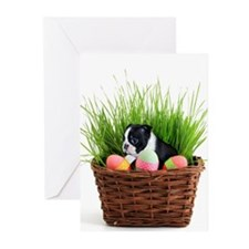 Easter Boston Terrier Dog Greeting Cards
