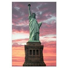 Statue Of Liberty Sunset Wall Art