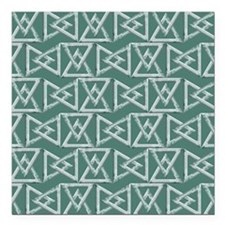 "Triangles geometrical pa Square Car Magnet 3"" x 3"""