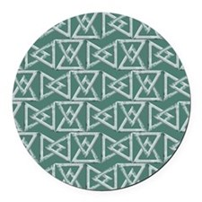Triangles geometrical pattern Round Car Magnet