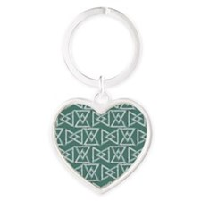 Triangles geometrical pattern Heart Keychain