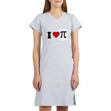 I Heart Pi Women's Nightshirt