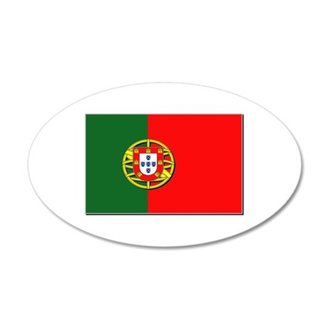 Portugal Flag 35x21 Oval Wall Decal