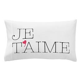 Je T'aime Pillow Case