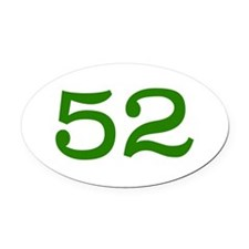 GREEN #52 Oval Car Magnet