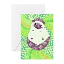 Psychedelic Hedgehog Greeting Cards