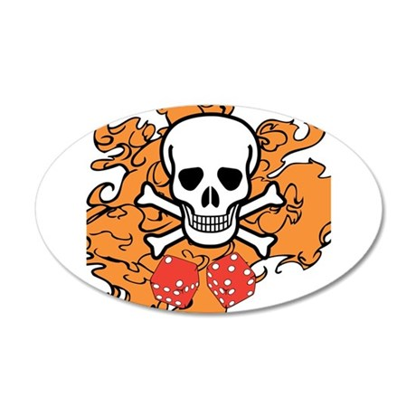 Skull and Crossbones Wall Decal