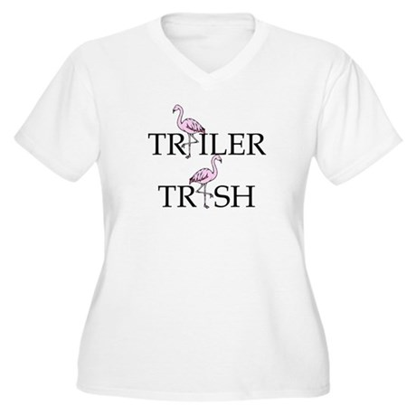 Trailer Trash Women's Plus Size V-Neck T-Shirt