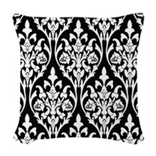 Art Deco Geo Floral Woven Throw Pillow