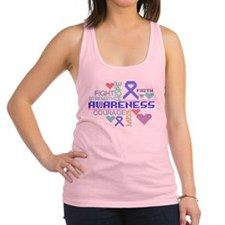 Huntington Disease Slogans Racerback Tank Top