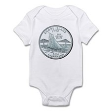 Rhode Island State Quarter Infant Creeper