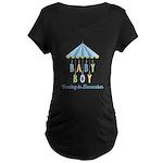 Baby Boy Due in December Maternity Dark T-Shirt