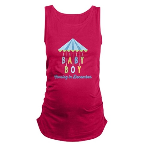 Baby Boy Due in December Maternity Tank Top