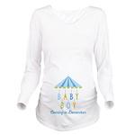 Baby Boy Due in Dece Long Sleeve Maternity T-Shirt