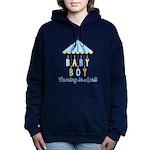 Baby Boy Due in April Hooded Sweatshirt