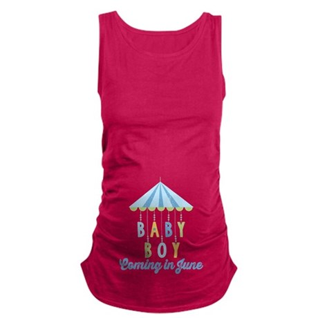 Baby Boy Due in June Maternity Tank Top