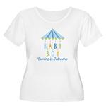 Baby Boy Due Women's Plus Size Scoop Neck T-Shirt