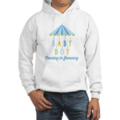 Baby Boy Due in January Hooded Sweatshirt