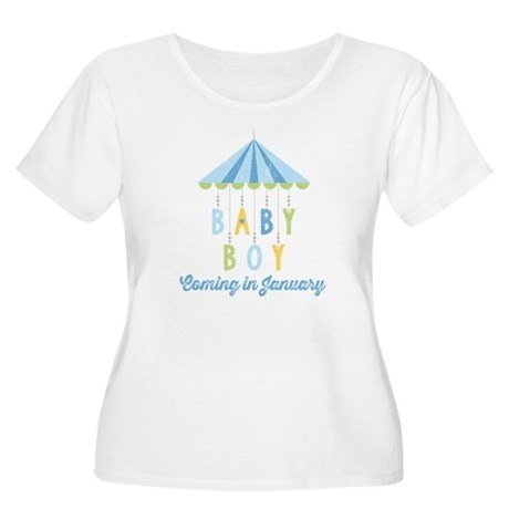 Baby Boy Due Women's Plus Size Scoop Neck T-Shirt