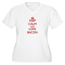 Keep calm and love Bacon Plus Size T-Shirt