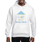 Baby Boy Due in March Hooded Sweatshirt