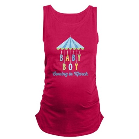 Baby Boy Due in March Maternity Tank Top