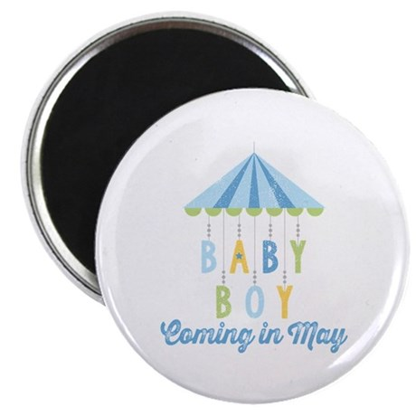Baby Boy Due in May Magnet
