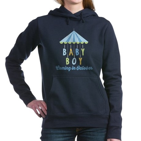 Baby Boy Due in October Hooded Sweatshirt
