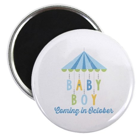 Baby Boy Due in October Magnet