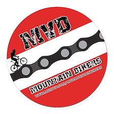 Mvd Mtbers Round Car Magnet