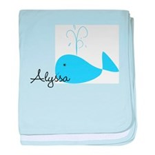 Name Whale baby blanket