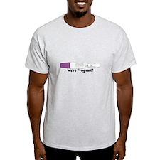 Positive Pregnancy Test Customizable T-Shirt