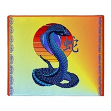 Year Of The Snake And Sun Throw Blanket