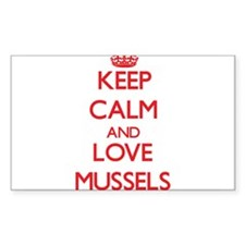 Keep calm and love Mussels Decal