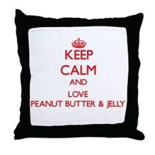 Keep calm and love Peanut Butter & Jelly Throw Pil