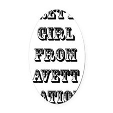 pgf avett nation Oval Car Magnet
