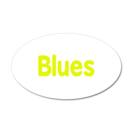 Blues word yellow music design Wall Decal