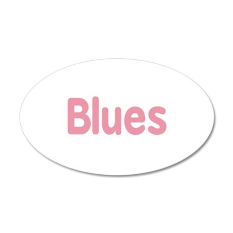 Blues word pink music design Wall Decal